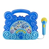 eKids Blues Clues Sing Along Boom Box Speaker with Microphone for Fans of Blues Clues Toys, Kids Karaoke Machine with Built in Music and Flashing Lights