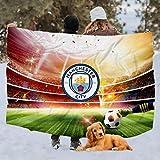 BTXX Manchester City F.C. Manta transpirable manta cálida, Manchester City F.c.-8, Throw 50x60inch