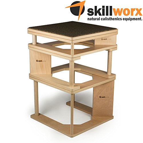 skillworx Plyollettes Set - Lucent Edition: 3-in-1 wooden Plyo Boxes...