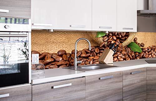 DIMEX LINE Küchenrückwand Folie selbstklebend KAFFE | Klebefolie - Dekofolie - Spritzschutz für Küche | Premium QUALITÄT - Made in EU | 260 cm x 60 cm