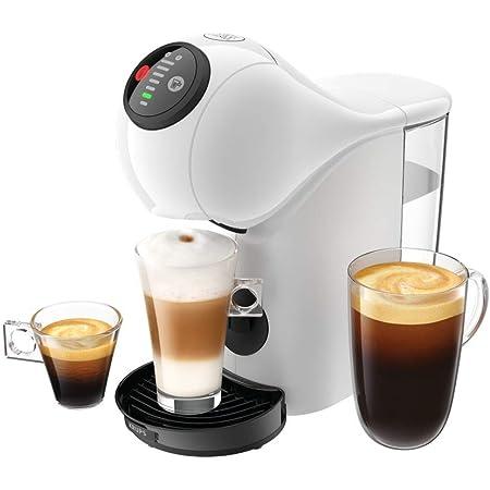 KRUPS Genio S Blanc Machine à Café Cafetière Fonction XL Intuitive Boissons Froides ou ChaudesMode Eco Témoin Détartrage KP240110