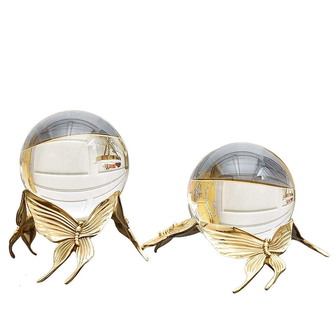 繁雑公然と絶え間ない2ピースクリスタルボールの装飾、蝶クリスタルボールの装飾ワインキャビネットの装飾パーフェクトオフィスデスクトップヨーロッパ