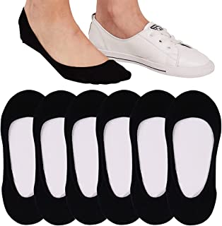 4 to 8 Pairs Ultra Low Cut No Show Socks Women Invisible...