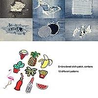 刺繡アップリケ、10個アップリケ、洋服ドレスの手工芸品