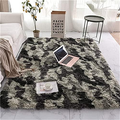 Mullido suave alfombra de la alfombra de la alfombra de la alfombra moderna de la sala de la sala de peludas de la alfombra larga de la caravana interior de la guardería para el hogar decoración del h