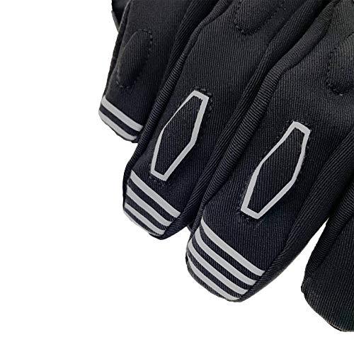 Orina Motorrad Winterhandschuhe, gefüttert, wind-, wasserdicht, atmungsaktiv (XL) - 4