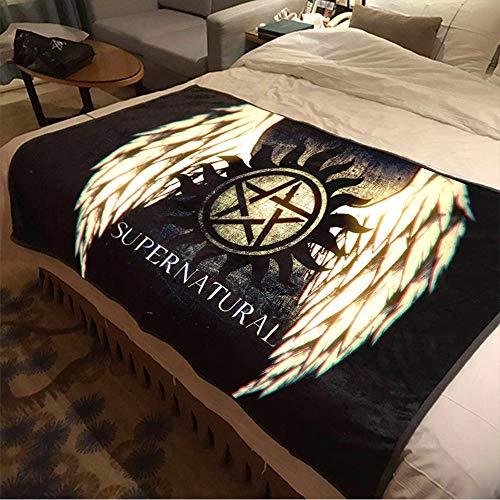 ASDIWON Supernatural Hochwertige Warme Weiche Flanell Plüsch Auf Der Schlafsofa Decke Geeignet Für Klimaanlage Decke Nap Decke (A,60x80in(150x200cm))