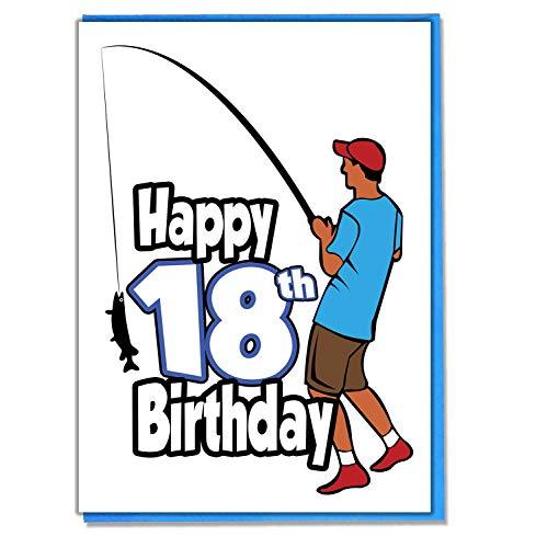 Vissen 18e Verjaardagskaart - Tiener - Jongens - Zoon - Kleinzoon - Vriend - Broer