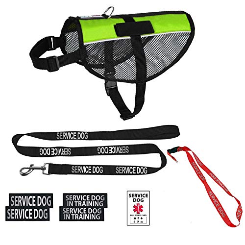 Dogline Service Dog Vest Harness Bundle