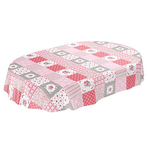 ANRO tafelzeil tafelkleed wasdoek wastafelkleed afwasbaar patchwork ruiten