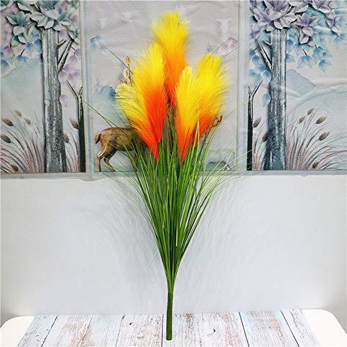 LAMF 5 tenedores artificiales de 80 cm para flores secas de pampas de hierba, ciruelas, pampas pequeñas y naturales, ramo de flores secas, para arreglos florales de boda, decoración del hogar