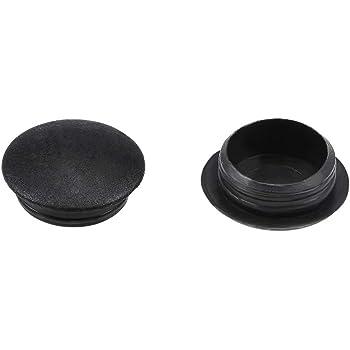 pl/ástico negro Sourcingmap tap/ón de bot/ón Tapa de rosca agujero de bloqueo 12 mm de di/ámetro tipo empotrado superior para armario estante