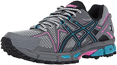 ASICS Women's Gel-Kahana 8 Running Shoe, Black/Island Blue/Pink Glow, 6.5 Medium US