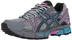 professional ASICS Gel Kahana 8 Women's Sneakers Black / Island Blue / Luminous Pink US Medium 9