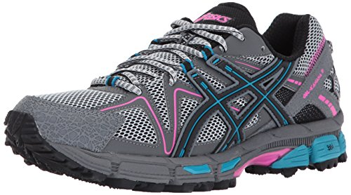 ASICS Women's Gel-Kahana 8 Running Shoe, Black/Island Blue/Pink Glow, 9 Medium US