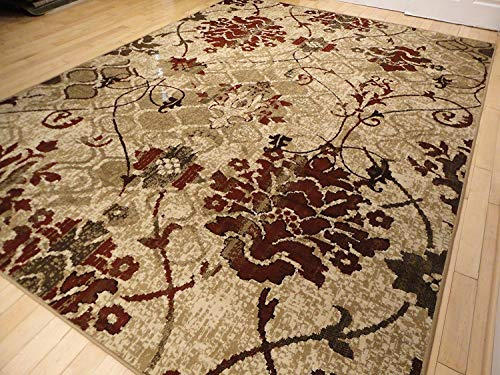 Modern Burgundy Rugs Living Dining Room Red Cream Beige Area Rugs 8x10 Rugs Contemporary Rugs Burgundy Cream Beige 8x11 Rug