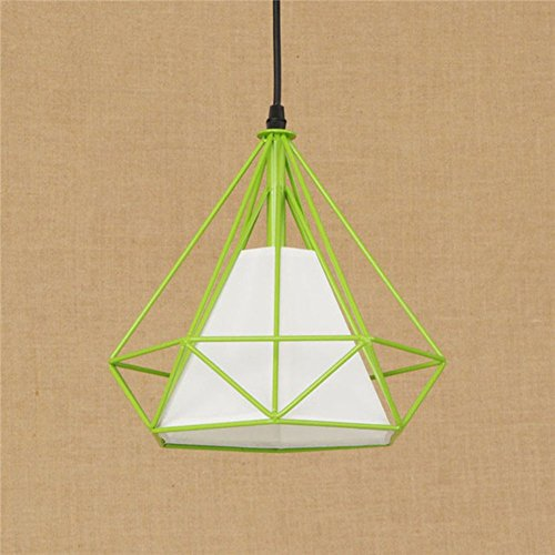 Retro Pyramide Pendentif Lumière Industrielle Wind Birdcage Fer Pendentif Lumières E27 Lumière Stand Restaurant Lampe (Ampoule Non Inclus)