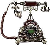 Teléfono Decoración Modelo Inicio Escritorio Decoración Retro Teléfono, FSK Y DTME ID de llamada EUROPEO Vintage Teléfono Antiguo, IDS-8975 Edición de actualización Perla Teléfono Vintage para Oficina