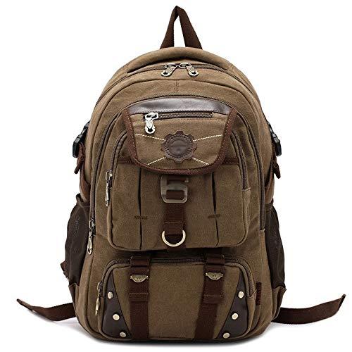Lpiotyubeib Mochila, Todos los días Unisex Ordenador Mochila Bolsa de Hombro Exterior Escalada de Viaje (Color : Brown)
