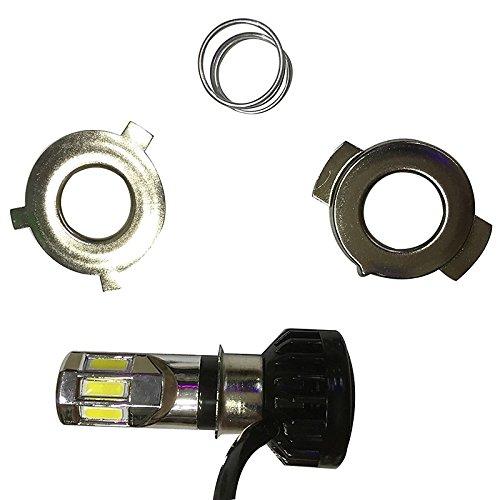 ZGMA H4 Moto Ampoules électriques 35W COB 3500lm LED Lampe Frontale White Flood H4