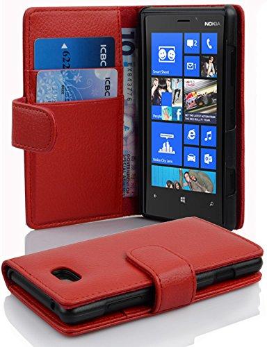 Cadorabo Funda Libro para Nokia Lumia 820 en Rojo Infierno - Cubierta...