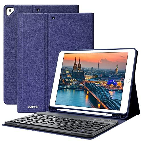 Teclado para iPad 10.2 9th 2021/8th 2020/7th 2019, Funda Teclado para iPad 9 Gen y Air 3 Teclado Inalámbrico para iPad Pro10.5