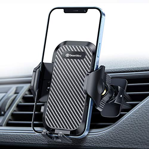 DesertWest Car Vent Phone Mount Air Vent Cell Phone Holder for Car Ultra Durable Cradle Compatible with iPhone 12 Pro Max/12/11 Pro Max/8 Plus/8/X/XR/XS/SE Samsung Galaxy S20+/S20/S10/S9/Note 20/10