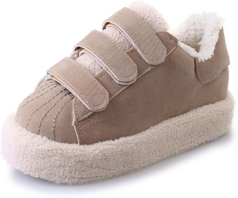 CYBLING Women Warm Winter Sneakers Casual Lace Up shoes Fashion Flat shoes