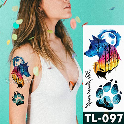 tzxdbh 5 stuks zwarte kat rode kant roze sticker tattoo dotem motief body art tattoo waterdicht voor vrouwen 14 5pcs-14