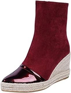 MisaKinsa Women Elegant Wedge Booties Outdoor Platform Shoes