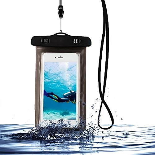 Estuche para teléfono móvil subacuático, Funda Impermeable para teléfono, Negro