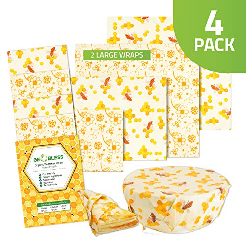 Geobless Beeswax Food Wrap- Beeswax Wraps - Eco...