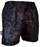 GUGGEN Mountain Badehose für Herren Schnelltrocknende Badeshorts Beachshorts Boardshorts Schwimmhose Männer Farbe Rot XL