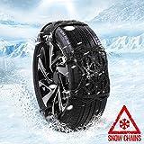 AUTOGUARD Lot de 6 chaînes à Neige antidérapantes universelles pour pneus de Largeur de 165 mm à 285 mm Noir