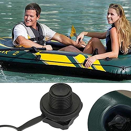 junmo shop Válvula de aire Válvula de inflado unidireccional Válvula de Boston Tornillo de repuesto de inflación unidireccional Válvula de Boston para balsa de goma Kayak piscina barco Airbeds
