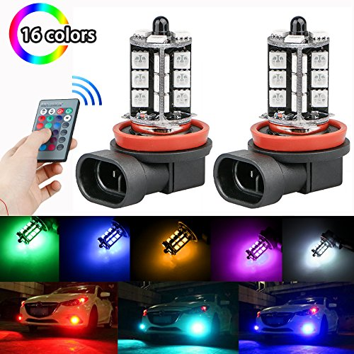 LinkStyle Multi-Color Changing Fog Lights with Remote Control