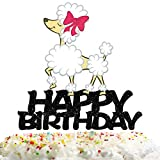 Poodle Happy Birthday Cake Topper Decorations with for Pet Theme Picks for Dog Party Decor Supplies