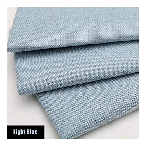 Pure linnen stof linnen materiaal, lichtblauw zacht effen linnen look bekleding stof, 39 inch linnen stof voor dressoir, gordijnen, bruiloft, bekleding bloempot decoratie en tafelkleed (100 CM X 1