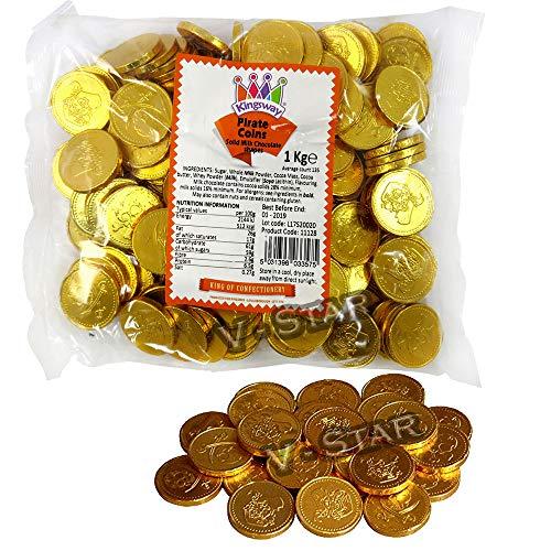 Kingsway - Monedas pirata de chocolate con leche (1 kg)