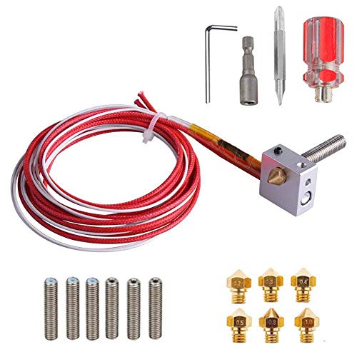 LSS-MDS 3D Printer Extruder Nozzle and Cleaning Kit 3D Printer Accessories Mk10 Extruder Brass Nozzle and Cleaning Needle Wrench Kit