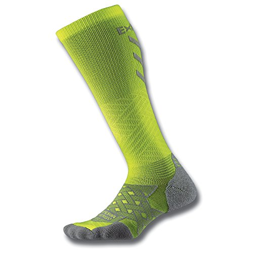 Thorlo Experia Energy Compression Over The Calf Chaussettes Mixte Adulte, Electric Yellow, FR : S (Taille Fabricant : S)