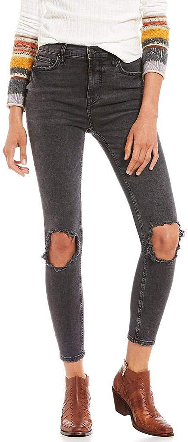 Free People Womens Destroyed Ankle Skinny Jeans