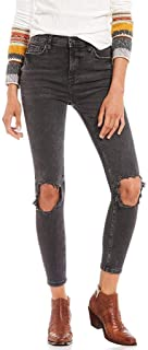 Free People Women's High-Rise Busted Skinny Jeans