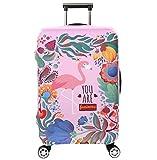 Cubierta de Equipaje en Flamingo Form,Duradero Protector Lavable Plegable, el tamaño del Protector de la Maleta se Ajusta 18-32 Pulgadas