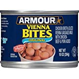 Armour Star Vienna Sausage Bites, Original Flavor, Canned Sausage, 10 OZ (Pack of 12)