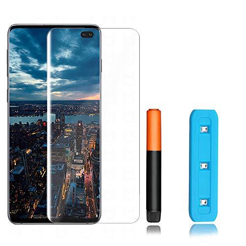 KSTORE365 Cristal Templado Samsung S10 Plus, Protector de Pantalla Samsung s10 + Vidrio Templado con [Kit UV] [3D Curvo] para Samsung Galaxy S10+