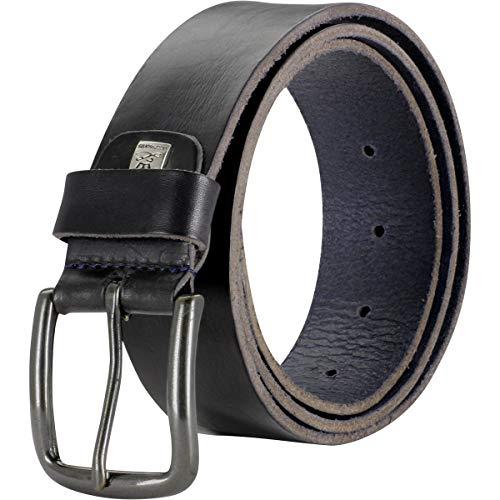 LINDENMANN Herren Ledergürtel/Herren Gürtel, Vollrindleder Gürtel, schwarz, Größe/Size:90, Farbe/Color:schwarz