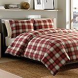 Eddie Bauer Navegación Plaid Comforter Set, Rojo, Cama Individual
