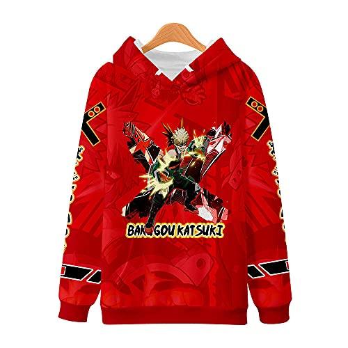 MWMMWLH Sudaderas con Capucha,Hombre Jersey Moda Impresión 3D Haikyuu Anime con Capucha Adolescentes con Bolsillos con Cordón Unisex Sudaderas 5XL