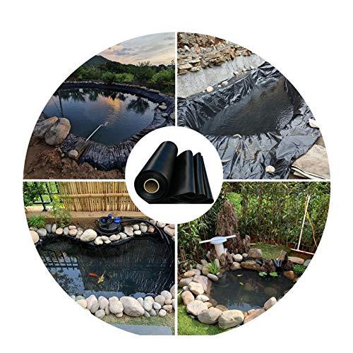 LJIANW Forro para Estanque, Revestimiento De Estanque, HDPE Flexible Tarea Pesada Resistente Al Desgarro Lonas por Al Aire Libre Jardín De Agua Estanque De Peces Fuente De Corriente, 0,6 MM